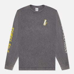 Мужской лонгслив RIPNDIP Electrify Grey Mineral Wash