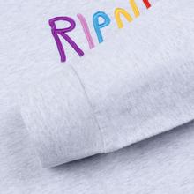 Мужской лонгслив RIPNDIP EMB Logo Heather Grey фото- 1