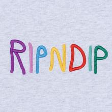 Мужской лонгслив RIPNDIP EMB Logo Heather Grey фото- 2