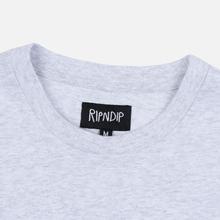 Мужской лонгслив RIPNDIP EMB Logo Heather Grey фото- 3