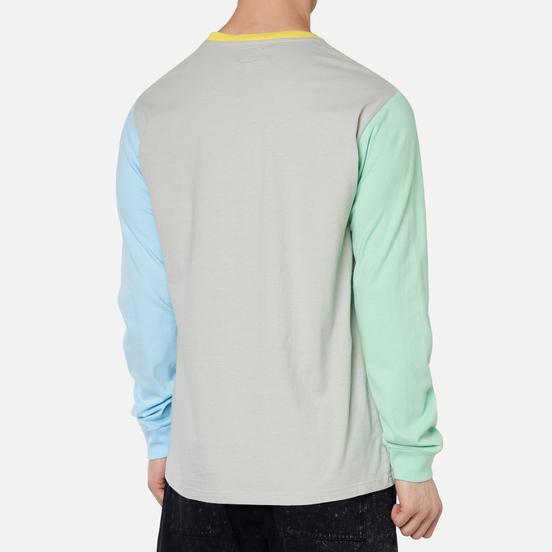 Мужской лонгслив RIPNDIP Embroidered Logo Grey/Green/Blue