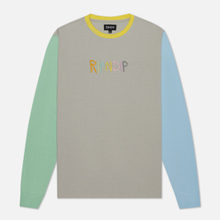 Мужской лонгслив RIPNDIP Embroidered Logo Grey/Green/Blue