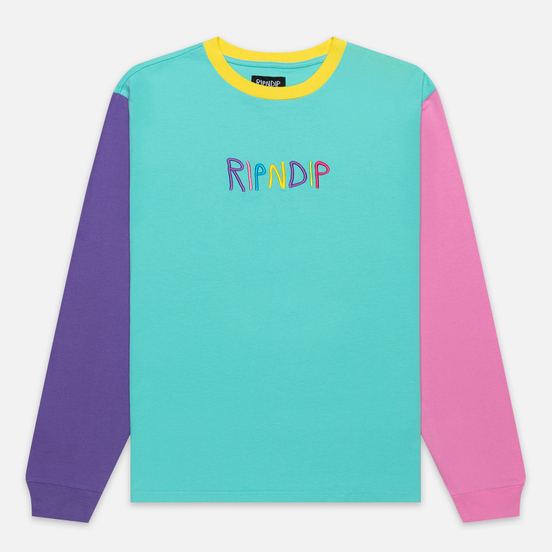 Мужской лонгслив RIPNDIP Embroidered Logo Multicolor
