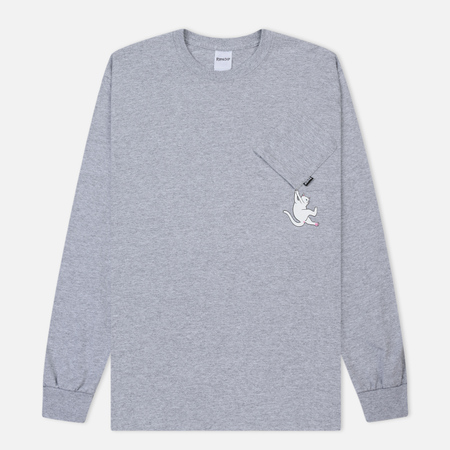 Мужской лонгслив RIPNDIP Hang In There Heather Grey