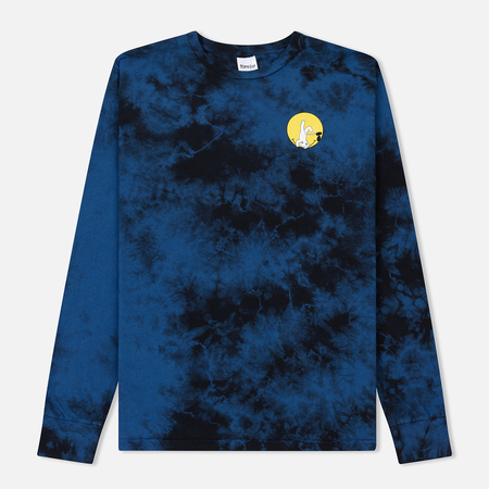 Мужской лонгслив RIPNDIP It Won't Be Ok Navy Acid Wash