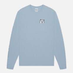 Мужской лонгслив RIPNDIP Lord Nermal Pocket Baby Blue