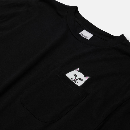 Мужской лонгслив RIPNDIP Lord Nermal Pocket Black