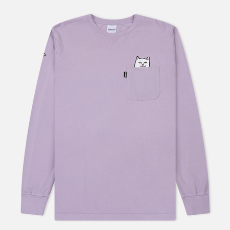 Мужской лонгслив RIPNDIP Lord Nermal Pocket Lavender