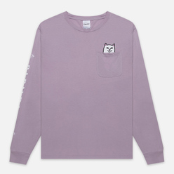 Мужской лонгслив RIPNDIP Lord Nermal Pocket Light Purple