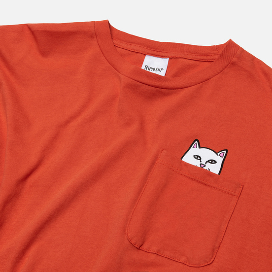 Мужской лонгслив RIPNDIP Lord Nermal Pocket Texas Orange