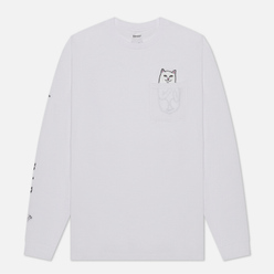 Мужской лонгслив RIPNDIP Lord Nermal Pocket White