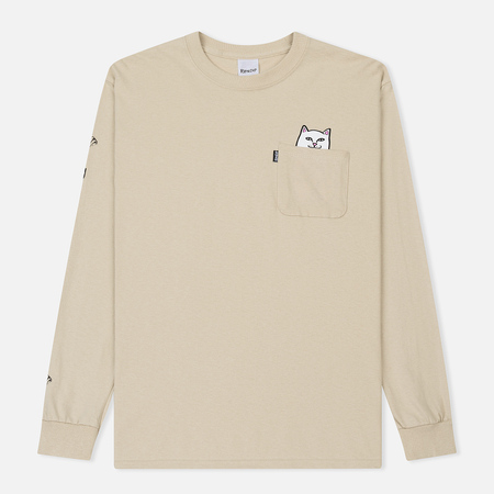 Мужской лонгслив RIPNDIP Lord Nermal Pocket Tan