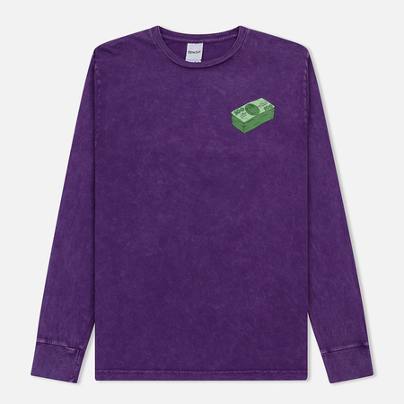 Мужской лонгслив RIPNDIP Money Talks Purple Mineral Wash