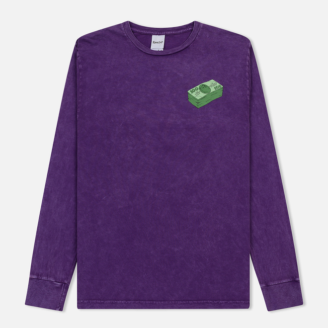 Мужской лонгслив RIPNDIP Money Talks Purple Mineral Wash