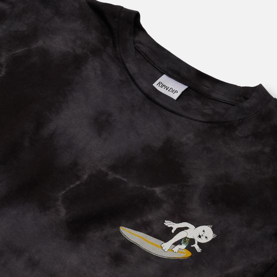 Мужской лонгслив RIPNDIP Surf Up Black Mineral Wash