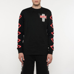 Мужской лонгслив Sex skateboards x Dogtown Front & Arm & Large Back Print Black фото- 5