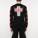 Мужской лонгслив Sex skateboards x Dogtown Front & Arm & Large Back Print Black фото- 6