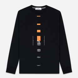 Мужской лонгслив Stone Island 7215 Graphic Nine Black