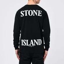 Мужской лонгслив Stone Island 7215 Graphic Nine Black фото- 5