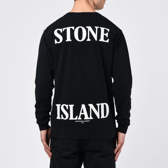 Мужской лонгслив Stone Island 7215 Graphic Nine Black