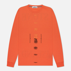 Мужской лонгслив Stone Island 7215 Graphic Nine Bright Orange