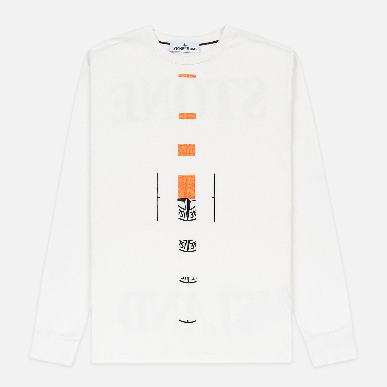 Мужской лонгслив Stone Island 7215 Graphic Nine Ivory