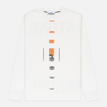Мужской лонгслив Stone Island 7215 Graphic Nine Ivory фото- 0