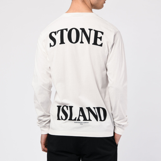 Мужской лонгслив Stone Island 7215 Graphic Nine Ivory