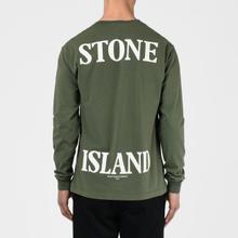 Мужской лонгслив Stone Island 7215 Graphic Nine Olive Green фото- 5