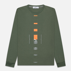 Мужской лонгслив Stone Island 7215 Graphic Nine Olive Green