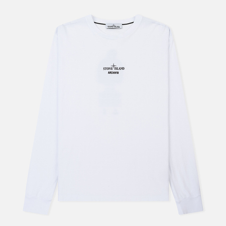Мужской лонгслив Stone Island Archivio Project Poly Felt White