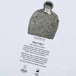 Мужской лонгслив Stone Island Archivio Project Poly Felt White фото- 4