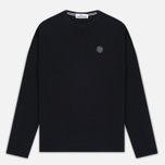 Мужской лонгслив Stone Island Check Grid LS Black фото- 0