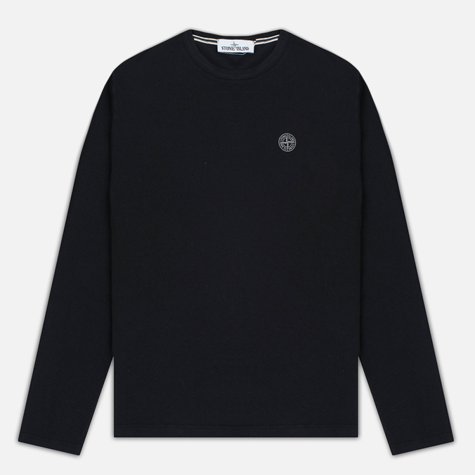 Мужской лонгслив Stone Island Check Grid LS Black