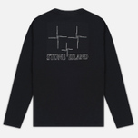 Мужской лонгслив Stone Island Check Grid LS Black фото- 4