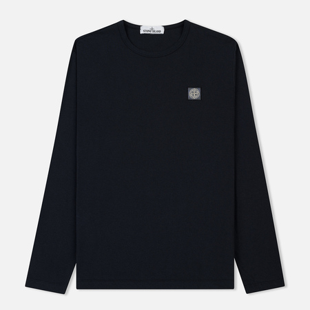 Мужской лонгслив Stone Island Fissato Dye Treatment Navy Blue