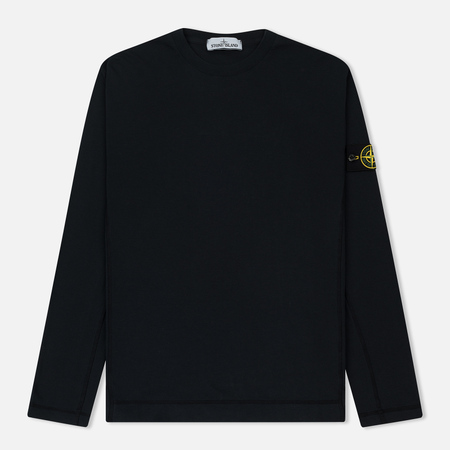 Мужской лонгслив Stone Island Mako Cotton Interlock Blue