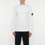 Мужской лонгслив Stone Island Mako Cotton Interlock White фото- 5