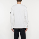 Мужской лонгслив Stone Island Mako Cotton Interlock White фото- 6