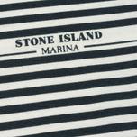 Мужской лонгслив Stone Island Marina Corrosion Print White фото- 2