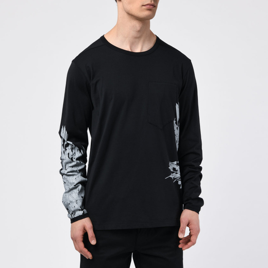 Мужской лонгслив Stone Island Shadow Project 7219 CXADO Print Black