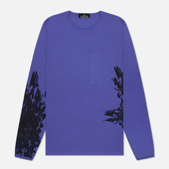 Мужской лонгслив Stone Island Shadow Project 7219 CXADO Print Lavender