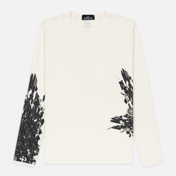 Мужской лонгслив Stone Island Shadow Project 7219 CXADO Print Natural White