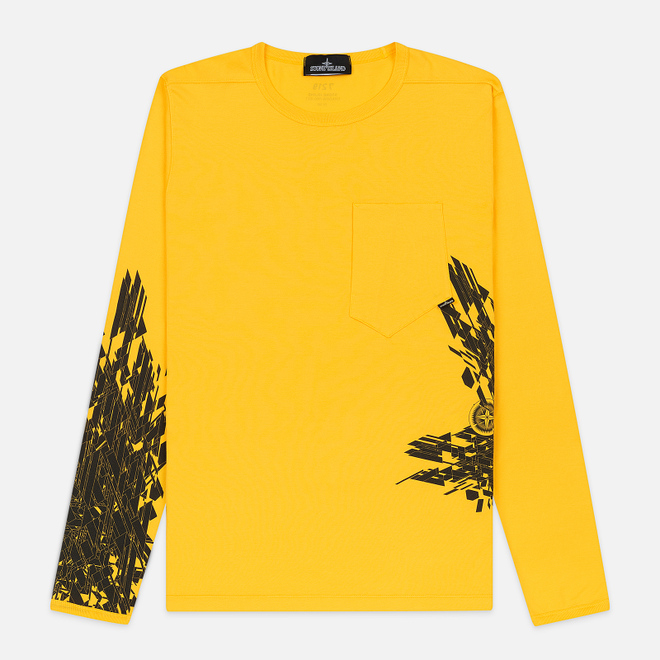 Мужской лонгслив Stone Island Shadow Project 7219 CXADO Print Yellow