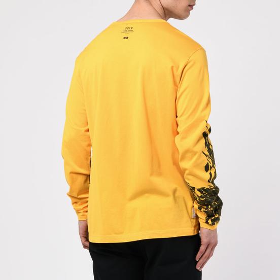 Мужской лонгслив Stone Island Shadow Project 7219 CXADO Print Yellow