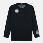 Мужской лонгслив Stone Island Shadow Project Catch Pocket Black фото- 0