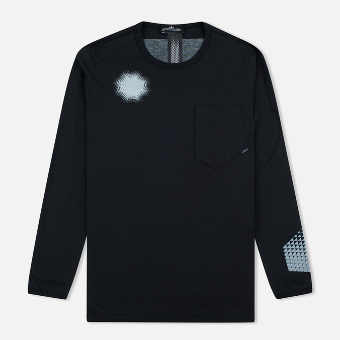 Мужской лонгслив Stone Island Shadow Project Catch Pocket Black
