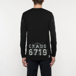 Мужской лонгслив Stone Island Shadow Project Catch Pocket Digital Prints Black фото- 8