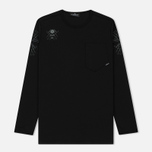 Мужской лонгслив Stone Island Shadow Project Catch Pocket Digital Prints Black фото- 0