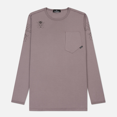 Мужской лонгслив Stone Island Shadow Project Catch Pocket Digital Prints Lavender